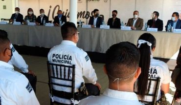 With school scholarships for family members, CANACINTRA recognizes the work of the Morelia Police