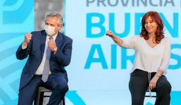 Alberto Fernández, Cristina Kirchner y Kicillof comparten un acto en La Plata