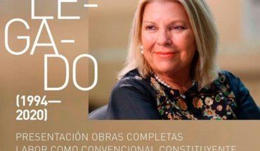"""Elisa Carrió presentará este martes su libro """"Mi legado político"""""""
