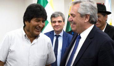 Evo Morales le agradeció su estadía en el país a Alberto Fernández