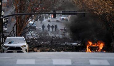 Explosión en el centro de Nashville: el FBI investiga si fue intencional