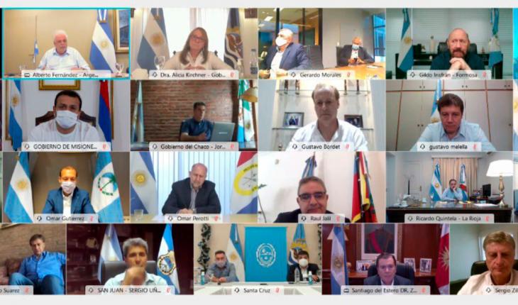 Fernández se reunió con Gobernadores para definir el plan de vacunación nacional