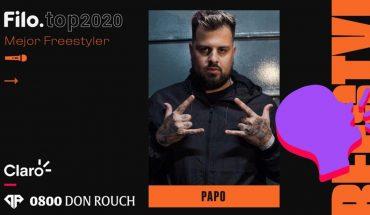 Filo.top 2020: Papo fue elegido como el Mejor Freestyler del año