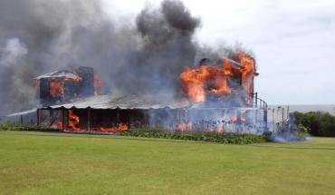 La mansión de Alan Faena en Uruguay quedó destruida por un incendio
