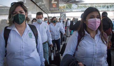 Llegan más de 400 trabajadores de salud a CDMX para apoyar a hospitales COVID