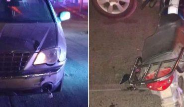 Menor de edad se lesiona al estrellarse en su moto en Guasave