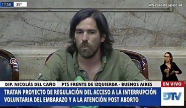 """Nicolás del Caño: """"Quienes se oponen al derecho al aborto no defienden la vida"""""""