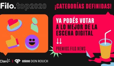 Premios Filo.top: votá a los nominados de lo mejor de la escena digital 2020