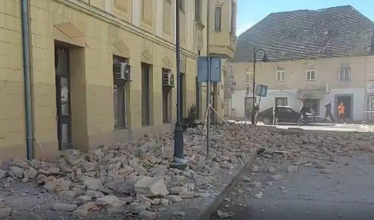 Terremoto de magnitud 6,3° causa daños materiales en el centro de Croacia
