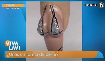 ¡Uñas sensuales y en forma de bikini!   Vivalavi