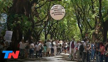 En una protesta de médicos murió el jefe de obstetricia del hospital Ramos Mejía