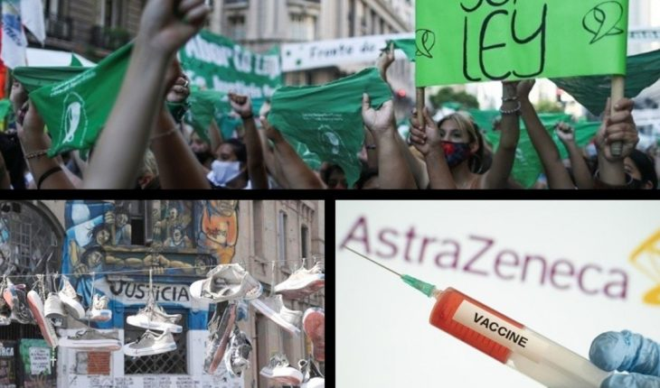 """Abortion is legal in Argentina, 16 years after the Cromañón tragedy, ANMAT authorized the emergency use of the Oxford/Aztrazeneca vaccine, What will the increases in retirements look like?, """"La petisa"""", the 10 video games of 2020 and more..."""