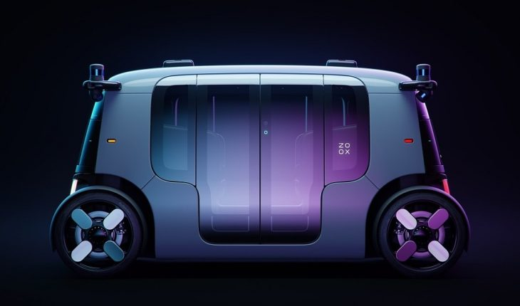 Amazon unveiled its four-passenger, driverless robotaxi