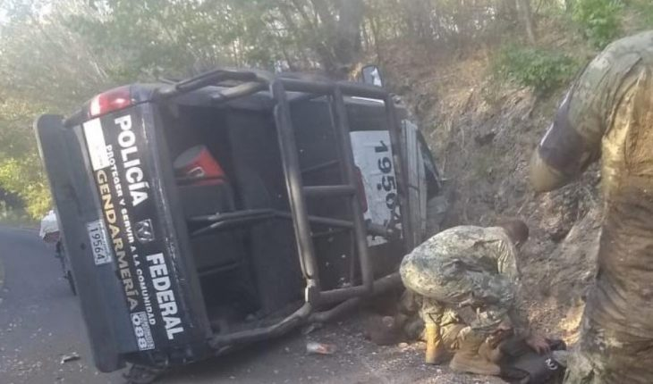 GN vehicle accident reported on road to Pochutla in Oaxaca