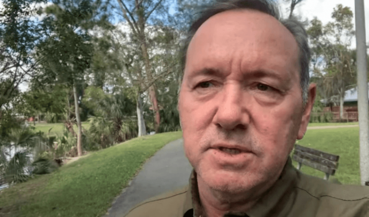 Kevin Spacey appeared in public with a grim Christmas message