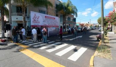Morelia city council reports 20 mdp investment in roads of the Prados Verdes colony