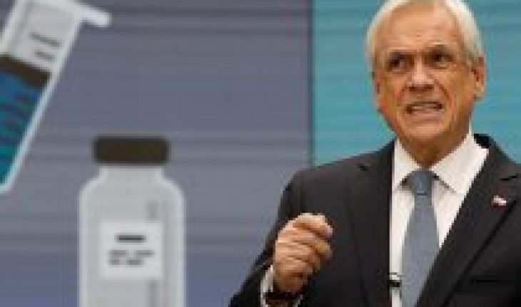 """Piñera commits vaccines to """"the bulk of the target population"""" before the end of the first half of next year"""