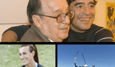 The day Diego Maradona met his idol, Roberto Gómez Bolaños; Mara Gómez will go on to history on her debut in a professional tournament; In different accidents, two paratroopers died in Santa Fe