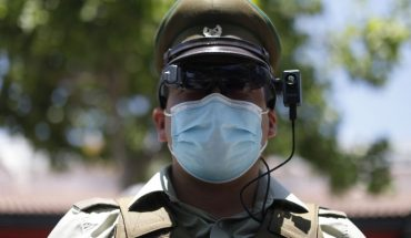 They delivered thermal visors to Carabineros to identify people with covid symptoms