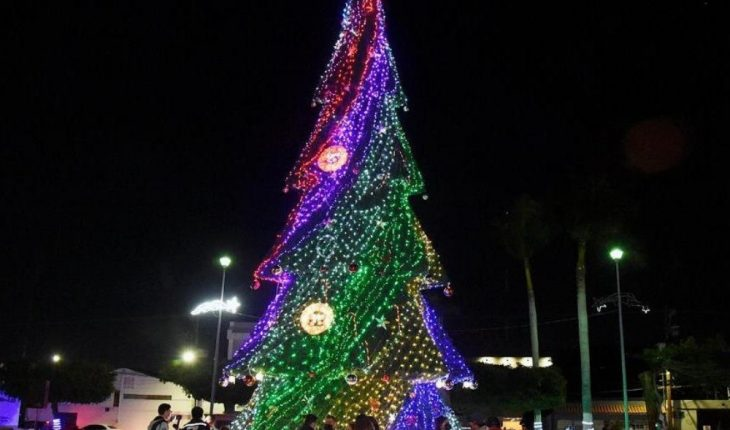 They light Christmas tree in Solidarity Square in Los Mochis