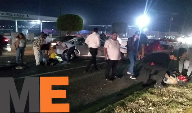 Three wounded in vehicular carambola on exit to Salamanca
