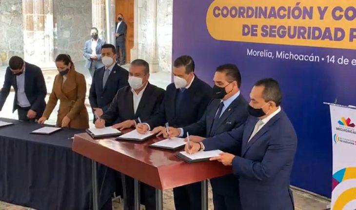 Firma nuevo convenio para seguridad en zona metropolitana de Morelia