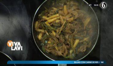 Cocina unas ricas rajas con carne | Vivalavi