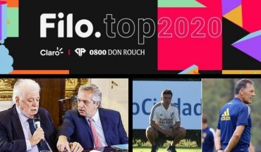 Filo.top 2020: Meet the winners!; Government suspended the increase in prepayouts; River-Boca and the first superclassic of the year; Pinamar and more...