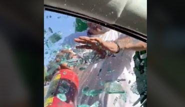 Throw the trash out the window in Zapopan, they claim and break the glass to a motorist (video)