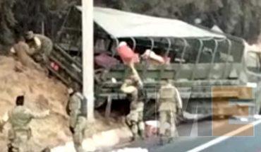 """Al menos 20 militares heridos al accidentarse en camión de la Sedena en la pista """"Siglo XXI"""""""