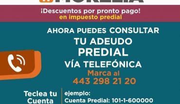 Habilita Gobierno de Morelia consulta rápida de predial