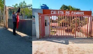 Tras acuerdo, retiran banderas rojinegras en Cecytem