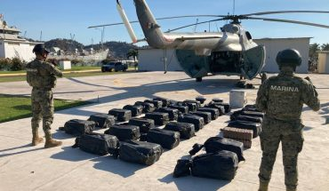 After persecution, Semar secures 731 kilos of cocaine in Michoacán