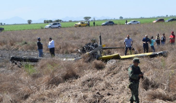 Pilot came out unscathed in plane crash in El Carrizo, Sinaloa
