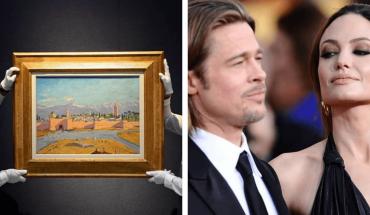 Angelina Jolie vendió un cuadro exclusivo que le regaló Brad Pitt por una cifra millonaria