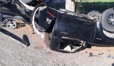 Aparatoso choque deja un lesionado por la calle 19 en Guasave