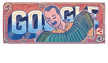 Google rinde homenaje en su Doodle al compositor argentino Astor Piazzolla