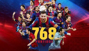 Messi rompe el récord del jugador con más partidos en la historia del Barcelona