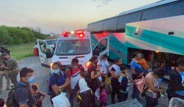 Rescatan 42 niños y 36 adultos migrantes en Tamaulipas