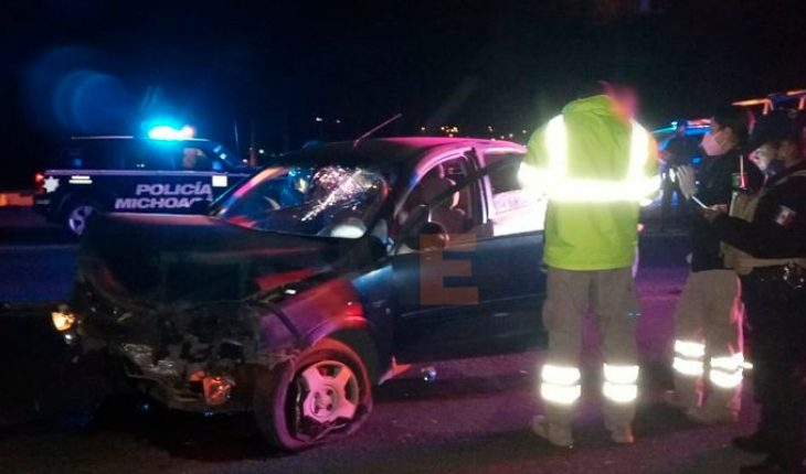 Se registra accidente automovilístico en la Zamora