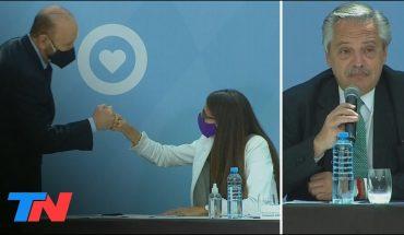 Alberto Fernández se mostró con Losardo e Insfrán en un acto contra violencia de género
