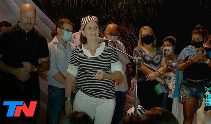 VESTIDA DE PRESA, Patricia Bullrich encabezó una marcha contra Gildo Insfrán en Formosa