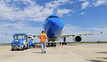 A new flight departed from Aerolíneas Argentinas to bring more Sputnik V vaccines