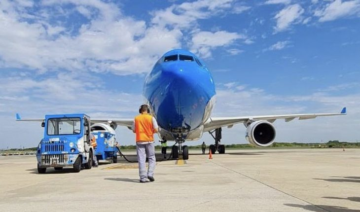 A new flight departed from Aerolíneas Argentinas to bring more Sputnik V vaccines