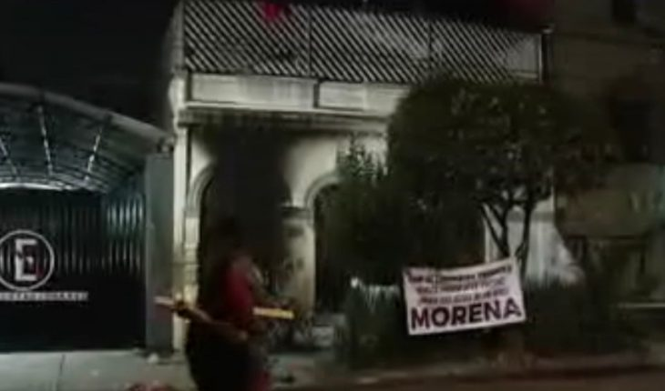 Brunette reports to Prosecutor's Office attack on cdMX facility
