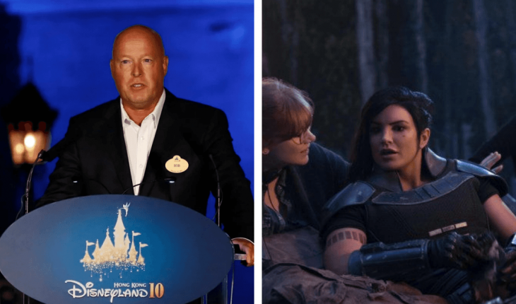 """Disney CEO came out to speak after Gina Carano's firing of """"The Madalorian"""""""