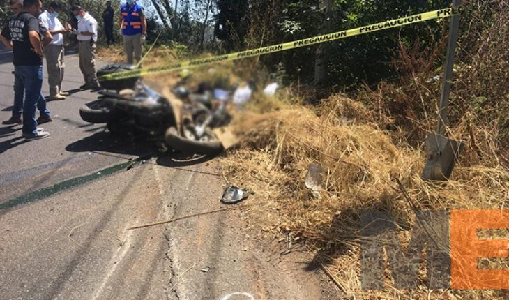 Female motorcyclist hit by ghost car dies