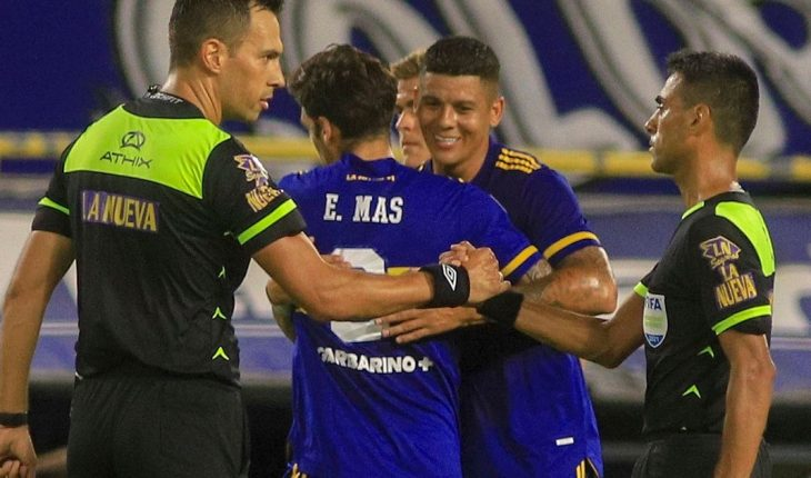 """Marcos Rojo debuted in Boca and said the tie """"was fair"""""""