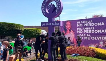 Un marched, commemorates Assembly 8M Women's Day in Morelia