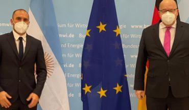 Arrancó la gira de Guzmán por Europa: se reunió con el ministro de Economía alemán